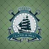 Uitstekend etiket met een zeevaartthema Royalty-vrije Stock Afbeelding