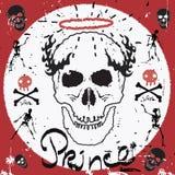 Uitstekend Etiket, schedel Typografie vectorelementen Retro schedel en skeletten Royalty-vrije Stock Foto