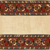Uitstekend etnisch naadloos ornament als achtergrond vector illustratie