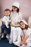 Uitstekend familieportret Royalty-vrije Stock Afbeelding