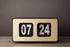 Uitstekend Flip Clock het 3d teruggeven Royalty-vrije Stock Afbeeldingen