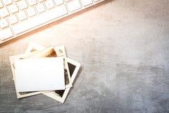 Uitstekend foto's en computertoetsenbord stock afbeelding