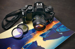 Uitstekend fotocamera en beeld Stock Fotografie