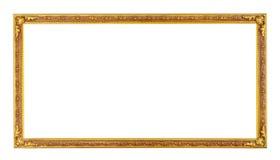 Uitstekend fotoframe dat op wit wordt geïsoleerd Stock Foto's