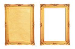 Uitstekend fotoframe dat op wit wordt geïsoleerd Stock Fotografie
