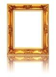 Uitstekend fotoframe dat op wit wordt geïsoleerde Royalty-vrije Stock Foto's