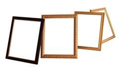 Uitstekend fotoframe door geïsoleerde. royalty-vrije stock foto's