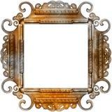 Uitstekend fotoframe met elegante patronen Stock Foto's