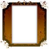 Uitstekend fotoframe met elegante patronen Royalty-vrije Stock Afbeelding