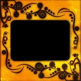 Uitstekend fotoframe met elegante patronen Stock Afbeelding