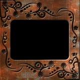 Uitstekend fotoframe met elegante patronen Stock Fotografie