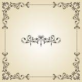 Uitstekend Frame en Etiket royalty-vrije illustratie