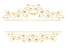 Uitstekend frame in goud Royalty-vrije Stock Afbeeldingen