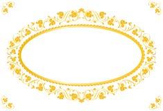 Uitstekend frame in goud Stock Afbeelding