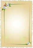 Uitstekend frame met bloemen vector illustratie