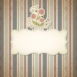 Uitstekend frame met bloemen Royalty-vrije Stock Foto's