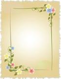 Uitstekend frame met bloemen royalty-vrije illustratie