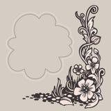 Uitstekend frame met bloemenpatroon Vector illustratie stock illustratie