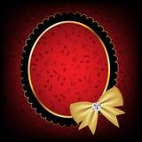 Uitstekend frame met boog vectorillustratie Royalty-vrije Stock Afbeeldingen
