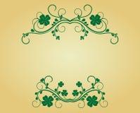 Uitstekend frame met klaver royalty-vrije illustratie