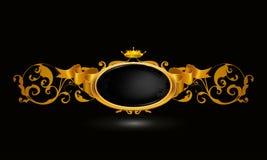 Uitstekend frame op zwarte Royalty-vrije Stock Afbeelding