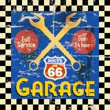 Uitstekend garageteken Stock Afbeeldingen