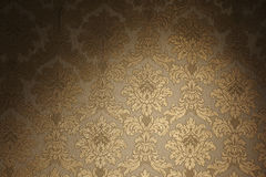 Uitstekend gouden behang Royalty-vrije Stock Afbeeldingen