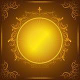 Uitstekend gouden frame Stock Afbeelding
