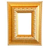 Uitstekend gouden houten kader Stock Afbeelding