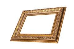 Uitstekend gouden kader met lege ruimte. royalty-vrije stock fotografie