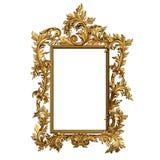 Uitstekend gouden kader met lege ruimte Stock Foto's