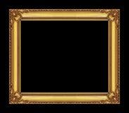 Uitstekend gouden kader met lege ruimte, met het knippen van weg Stock Foto's