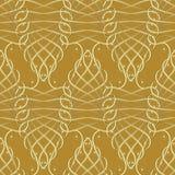 Uitstekend gouden kalligrafisch 3d naadloos patroon Vector moderne bac Stock Fotografie