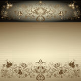 Uitstekend gouden Pasen frame Royalty-vrije Stock Foto