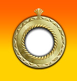 uitstekend gouden rond frame Royalty-vrije Stock Afbeelding