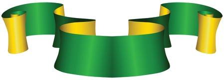 Uitstekend groen en gouden lint Royalty-vrije Stock Afbeelding