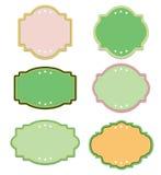Uitstekend groen en zacht kleurenetiket Royalty-vrije Stock Fotografie