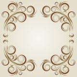 Uitstekend grunge beige frame Royalty-vrije Stock Afbeeldingen