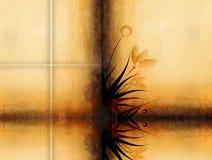 Uitstekend grunge bloemendocument Royalty-vrije Stock Afbeelding