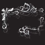 Uitstekend grunge zwart frame Royalty-vrije Stock Foto's