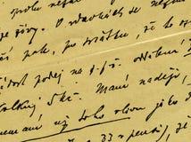Uitstekend handschrift Royalty-vrije Stock Afbeeldingen