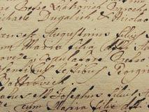 Uitstekend handschrift stock foto