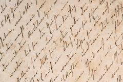 Uitstekend handschrift Het document van Grunge achtergrond royalty-vrije stock foto's