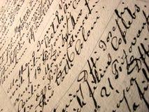 Uitstekend handschriftdocument Royalty-vrije Stock Afbeeldingen