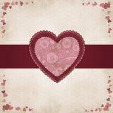 Uitstekend hart tegen de Dag van de Valentijnskaart Stock Afbeelding