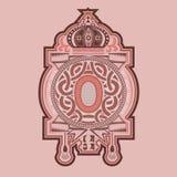 Uitstekend heraldisch etiket Stock Fotografie