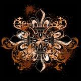 Uitstekend heraldisch kruis Royalty-vrije Stock Fotografie