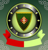 Uitstekend heraldisch teken Royalty-vrije Stock Afbeeldingen