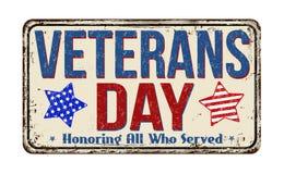 Uitstekend het metaalteken van de veteranendag Stock Afbeeldingen