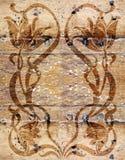 Uitstekend houten behang Stock Afbeelding